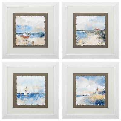 'Boat House Sail Ligh' 4 Piece Framed Graphic Art Print Set - Wayfair