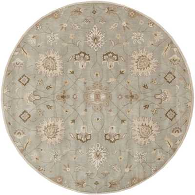 Albi Light Gray 10 ft. x 10 ft. Round Indoor Area Rug - Home Depot