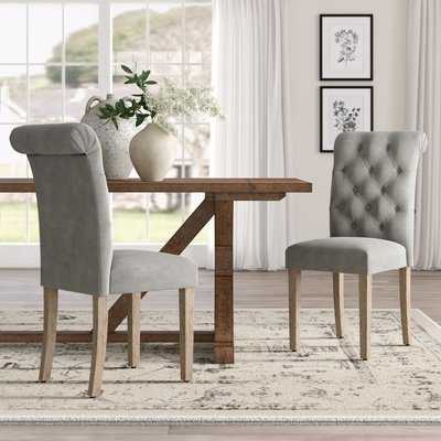 Bushey Roll Top Tufted Modern Upholstered Dining Chair, Set of 2 - Wayfair