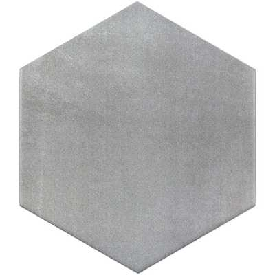 Hexagon Gray 9.875 in. x 11.375 in. x 10mm Matte Porcelain Floor and Wall Tile (18 pieces / 10.76 sq. ft. / box) - Home Depot