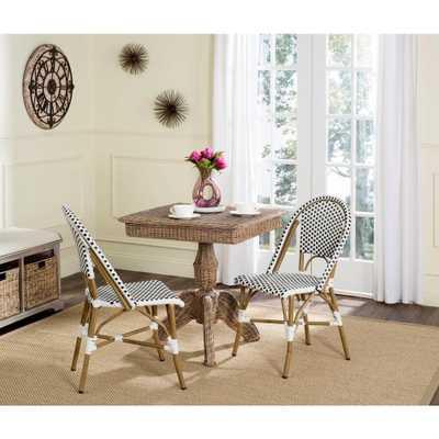 Safavieh Salcha Black Patio Dining Chair (2-Pack) - Home Depot