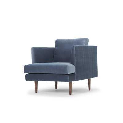 Norah Club Chair / Stax Dust Blue - AllModern