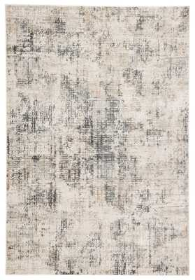 "CIQ22 - Cirque Eero Abstract Gray/ Ivory Area Rug (5X7'6"") - Collective Weavers"