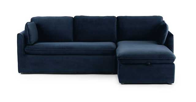 Oneira Tidal Blue Right Sofa Bed - Article