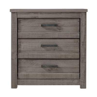 Carmel 3-Drawer Antique Grey Nightstand - Home Depot