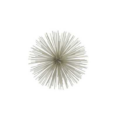 THREE HANDS 9 in. Silver Pointe Sphere Silver - Home Depot