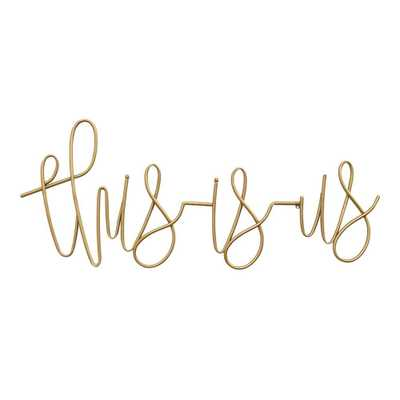 Stratton Home Decor This is Us Metal Script Wall Art, Gold - Home Depot