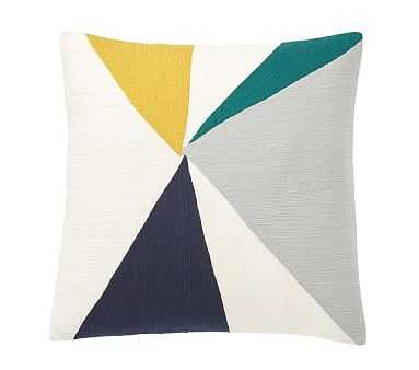 "west elm x pbk Geo Crewel Pillow Cover, 18x18"", Multi - Pottery Barn Kids"