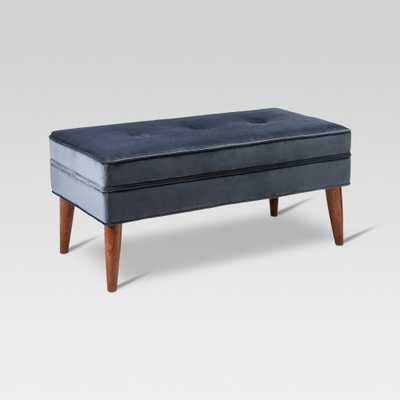 Amherst Mid Century Modern Bench Midnight Blue - Threshold - Target