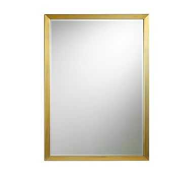 "Studio Wall Mirror, 30 x 42"", Brass - Pottery Barn"