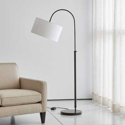 Petite Bronze Adjustable Arc Floor Lamp - Crate and Barrel