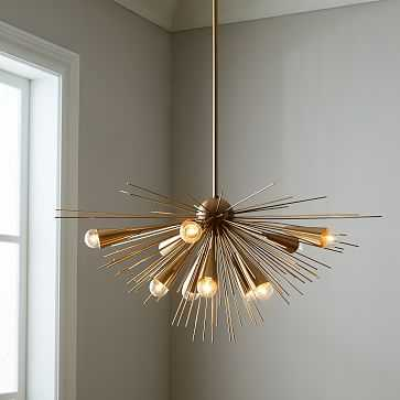 Sputnik Chandelier, Bronze/Brass - West Elm