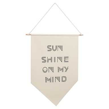 Sunshine Canvas Banner - Pottery Barn Teen
