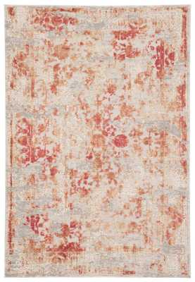 """Dreslyn Floral Red/ Light Gray Area Rug (7'6""""X9'6"""") - Collective Weavers"""