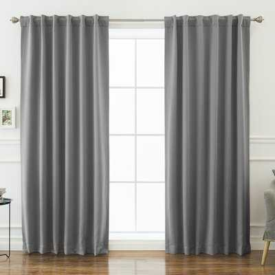 Sweetwater Solid Blackout Thermal Rod Pocket Double Curtains - Birch Lane