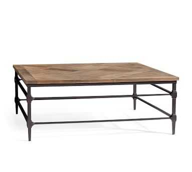 "Parquet Reclaimed Wood Square Coffee Table, Reclaimed Elm, 46""L - Pottery Barn"