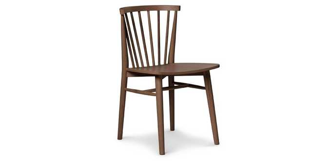 Rus Matte Walnut Dining Chair - Article