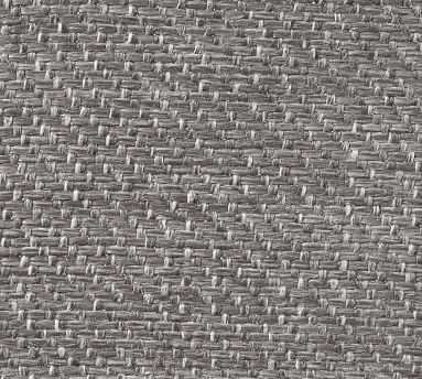 Fabric by the Yard - Textured Twill Light Gray - Pottery Barn