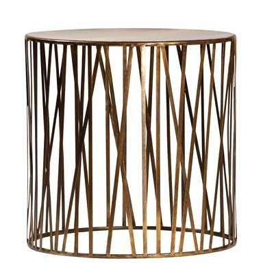 Murray Brass End Table - Wayfair