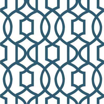 Navy Grand Trellis Peel And Stick Wallpaper, Blue - Home Depot