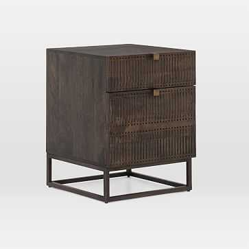 Mango Wood + Iron Filing Cabinet - West Elm