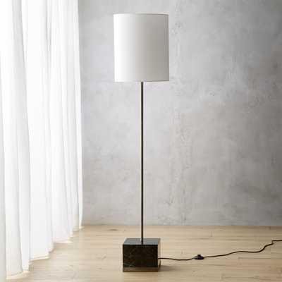 Sharp Black Marble Floor Lamp - CB2
