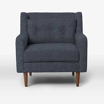 Crosby Armchair, Chenille Tweed, Nightshade - West Elm