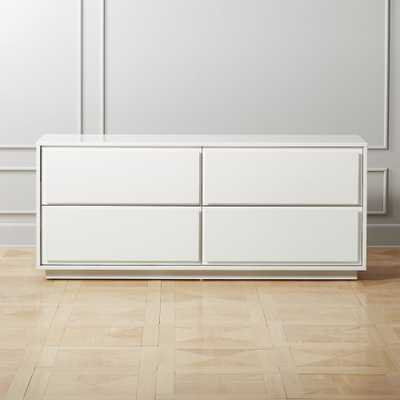 Gallery White 4-Drawer Low Dresser - CB2