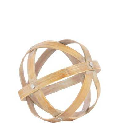 Bamboo Orb Dyson Sphere Sculpture - Wayfair