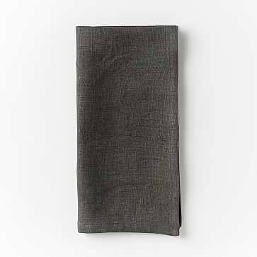 Belgian Linen Napkin, Set of 4, Solid, Slate - West Elm