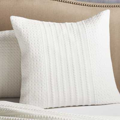 Doret White Euro Pillow Sham - Crate and Barrel