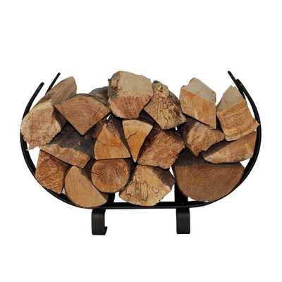 1.83 ft. Handcrafted Indoor/Outdoor Small U Shaped Firewood Rack Textured Bronze - Home Depot