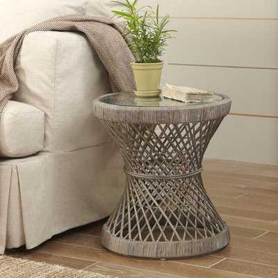 Backman Rattan Side Table - Wayfair