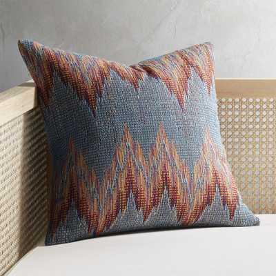 "18"" Senica Multicolored Pillow with Down-Alternative Insert - CB2"