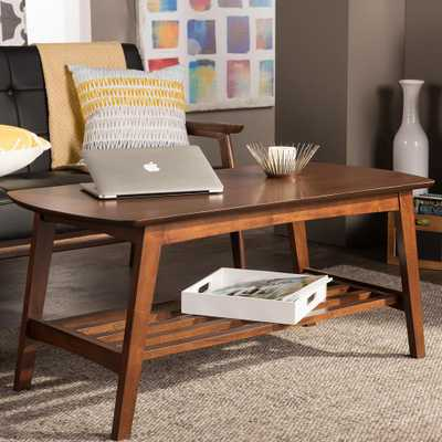 Sacramento Mid-Century Medium Brown Wood Finished Coffee Table - Home Depot