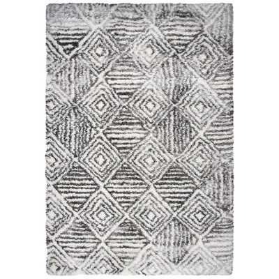 "Riztex, Usa Midnight Charcoal (Grey) 7'10"" x 10'6"" Geometric Area Rug - Home Depot"