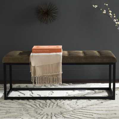 Lembus Faux Leather Bench - Wayfair