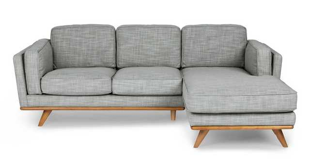 Timber Pebble Gray Right Sectional - Article