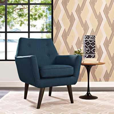 Posit Azure (Blue) Upholstered Armchair - Home Depot