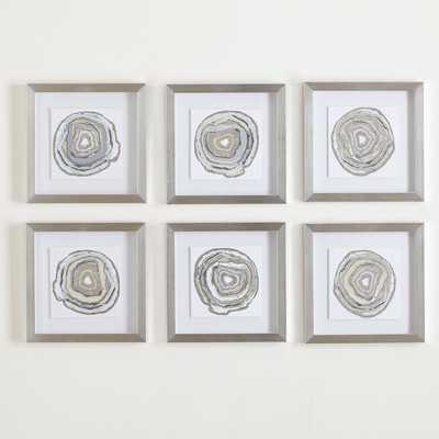 Geodes Framed Prints - Wayfair