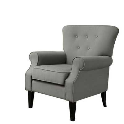 Festival Trading Industrial Gray Upholstery Arm Chair - Home Depot