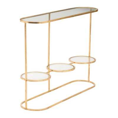 Aron Gold Console Table Gold - Home Depot