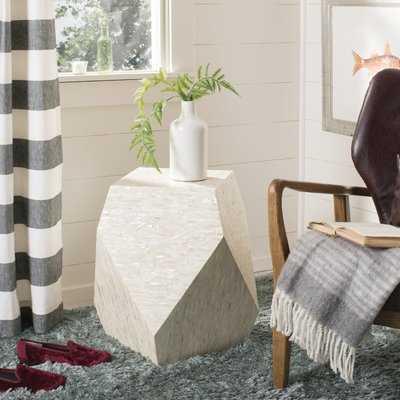 Mahn Mosaic Geometric End Table - Wayfair