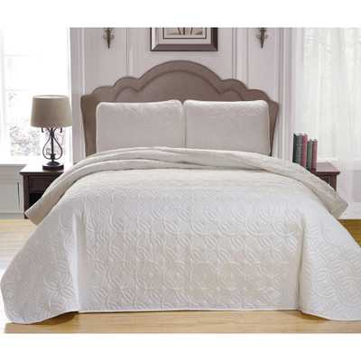 Kennelly Green Full/Queen Bedspread Set, White - Home Depot