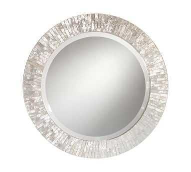 Miranda Capiz Round Mirror - Pottery Barn
