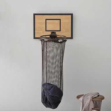 Basketball Hoop Over The Door Hamper, Smoked Gray - Pottery Barn Teen