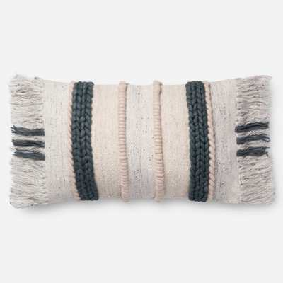 PILLOWS - DK. GREY / MULTI - Magnolia Home by Joana Gaines Crafted by Loloi Rugs