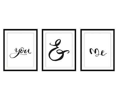 """You & Me Triptych Print, Set of 3, 17 x 21"""" - Pottery Barn"""