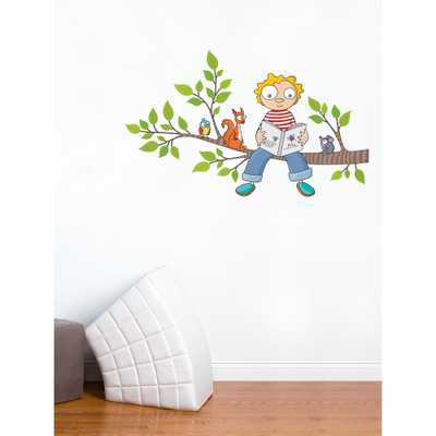 """Adzif (49.5 in x 30 in) Multi-Color """"Ludo's New Story"""" Kids Wall Decal - Home Depot"""
