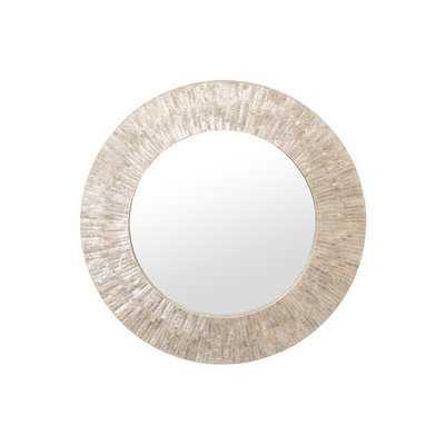 Round Capiz Seashell Sunray Wall Mirror - Wayfair
